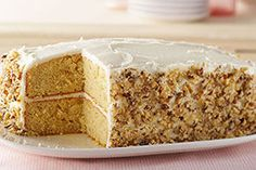 Hundreds of reviewers agree: This banana cake recipe made with sour cream and cream cheese frosting is flavorful, easy and a serious crowd-pleaser.