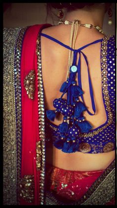 love the back of this choli!