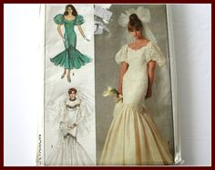 MERMAID /Fishtail Bridal Gown and by VintagePatternsDepot on Etsy