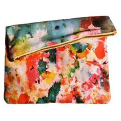 Check out this item at One Kings Lane! Art Pop Big Zipper Clutch