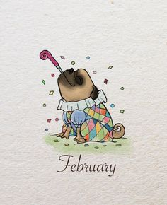 One year of Flurin by Leaal, via Behance #pugfanatic
