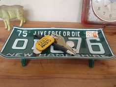 Vintage New Hampshire License Plate Tray 1975 by lahaine