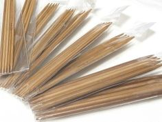 Knitting Needle 編み針(炭化竹針) 5本針 13cm 11種セット USサイズ ハンドメイド インテリア 雑貨 Handmade ¥1800yen 〆12月21日