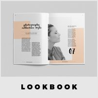 More Item   Lookbook Template Features:   International A4 size and US Letter Size CMYK Color Print-ready Adobe InDesign for CS4 or Later Paragraph and Text styles included 42 Pages Brochure 4 Mm B...