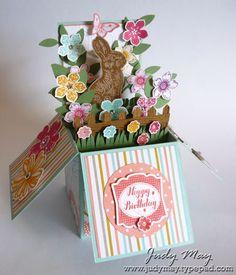 SU Chocolate Bunny, Petite Petals, Flower Shop, Label Love     (Mar 8, 2014)