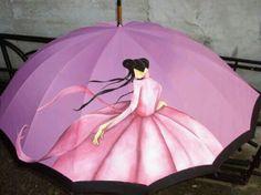 Risultati immagini per paraguas originales pintados a mano Pink Umbrella, Umbrella Art, Under My Umbrella, Colorful Umbrellas, Umbrellas Parasols, Umbrella Painting, Singing In The Rain, Everything Pink, My Favorite Color