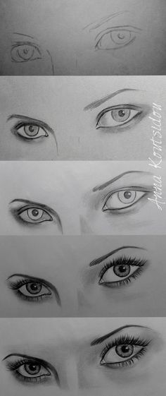 art drawings How To Draw An EYE - 40 Amazing Tutorials And Examples - Bored Art Realistic Eye Drawing, Drawing Eyes, Drawing Sketches, Art Drawings, Eye Sketch, Drawing Women Face, Eye Pencil Drawing, Pencil Sketching, Sketching Tips