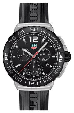 TAG Heuer 'Formula 1' Chronograph Rubber Strap Watch