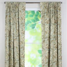 Chooty & Co Valdosta Mist Tab Top Rod Pocket Curtain Single Panel
