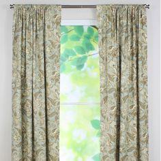 Chooty & Co Valdosta Mist Tab Top Rod Pocket Curtain Single Panel