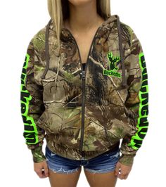 Zipper Hoodie - Realtree APG Camo with Green LogoPurchase