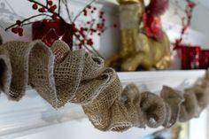 Christmas burlap garland--easy DIY