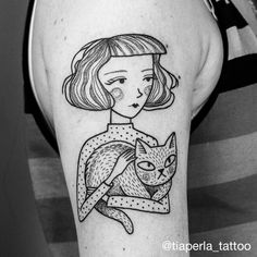 Love Cat Tattoo by Girl Tattoos, Tattoos For Women, Tatoos, Mexican Tattoo, Girl Reading Book, Anklet Tattoos, Tattoo Portfolio, Pretty Tattoos, Cat Tattoo