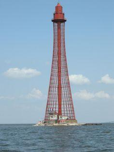 Lighthouse in the estuary of Dnjepr near Smolensk, Russia