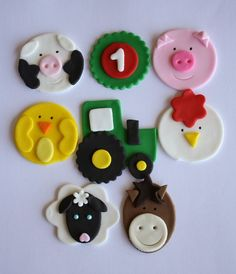 Farm Animal Cupcake Topper Variety Two Dozen: