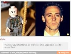 You know your cheekbones are impressive when Lego draws lines to accent them.