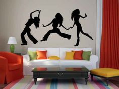 Hip Hop Girls Dancing Vinyl Wall Decal Sticker Graphic Made from 10 year high quality vinyl which leaves no residue upon removal. Some decals may come in multiple pieces due to the size of the design.