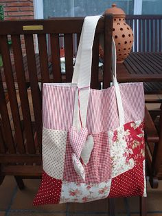 . Purses And Bags, Diaper Bag, Patches, Shopping Bags, Tote Bag, Quilts, Sewing, Fresco, Shabby Chic