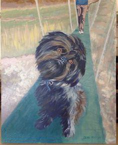 #shaggie dog on bridge By Deana Marconi