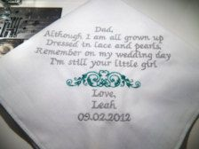 father of the bride handkerchief sayings - Google Search