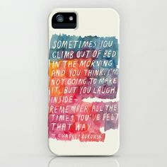 Charles Bukowski iPhone Case by Mei Lee -