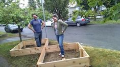 Couple Build A Raised Garden On Their Front Lawn To Grow Food For Themselves & Their Neighbors. Building A Raised Garden, Raised Garden Beds, Dug Up, Tiered Garden, Diy Garden Projects, Entertainment, Something To Do, Lawn, Grass