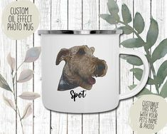 Custom Oil Effect Pet Face Enamel Mug | Perfect gift for pet owners | Dog mom, dog dad gift | Cat mom, cat dad gift Dog Dad Gifts, Cat Gifts, Gifts For Dad, Cat Dad, Dog Mom, Personalized Phone Cases, Animal Faces, Pet Names, Mug Designs