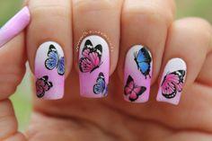 uñas decoradas mariposas - Buscar con Google