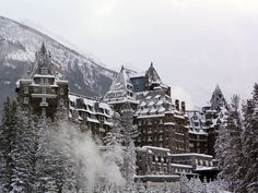 The Fairmont Banff Springs was built in 1888 and it is styled after a Scottish Baronial castle and it is a National Historic Site Ski Banff, Fairmont Banff Springs, Canadian Pacific Railway, Most Haunted Places, Site Visit, Best Resorts, Historical Sites, Where To Go, Places To Go