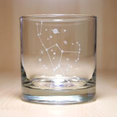 orion constellation etched glasses