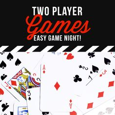 Over 50 card games for two players! All you need is a deck of cards and your sweetheart. These fun card games are perfect for some quality time together. This list of 2 player card games is SO easy to navigate and find the best card games for you! List Of Card Games, Family Card Games, Fun Card Games, Card Games For Kids, Free Games For Kids, Playing Card Games, Games For Teens, Adult Games, Fun Games