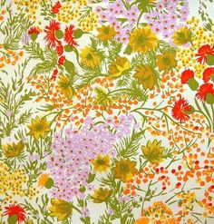 multi floral vintage wallpaper by elementstyle on Etsy, $100.00