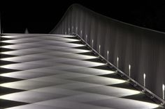 An example of the precicion of LEDs: the Mülimatt footbridge oder the River Aare in Windisch/CH