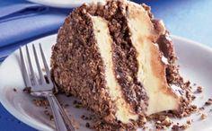 PAVÊ DE PANETONE E SORVETE Modo de Preparo: Derreta o chocolate em banho maria e misture-o com creme de leite. Corte o panetone em pe...