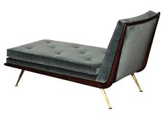 """""""Dayrest,"""" #1729 by T.H. Robsjohn-Gibbings   From a unique collection of antique and modern chaises longues at https://www.1stdibs.com/furniture/seating/chaises-longues/"""