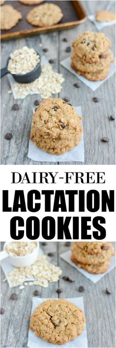 These Dairy-Free Lactation Cookies are the perfect snack for nursing moms., These Dairy-Free Lactation Cookies are the perfect snack for nursing moms. Dairy Free Snacks, Dairy Free Recipes, Baby Food Recipes, Cookie Recipes, Dessert Recipes, Desserts, Recipes Dinner, Vegan Recipes, Gluten Free