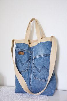 Stunning crossbody bag or handbag flexible Denim gift bag by touchofdenim on etsy – Artofit Bag Jeans, Denim Tote Bags, Striped Tote Bags, Work Jeans, Outfit Jeans, Shirt Outfit, Jean Purses, Denim Handbags, Denim Ideas