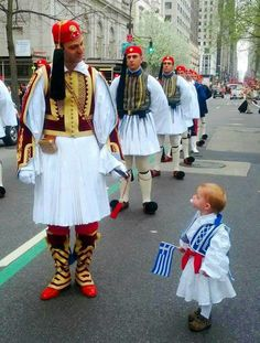 Greek Independence Day Parade in Avenue, NYC ~ March 2014 Greek Independence, Independence Day Parade, Mykonos, Santorini, Greek Blue, Greek History, Greek Culture, Folk Costume, Ancient Greece