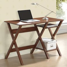 Found it at Wayfair - Computer Desk with Side Shelves