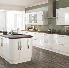 <3 mix of glossy white and dark brown wood