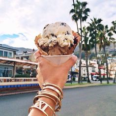Jewelry and Ice Cream Cone fashion photography summer spring food jewelry ice cream Yummy Treats, Sweet Treats, Yummy Food, Tasty, Britney Spears, I Love Food, Good Food, Love Ice Cream, Ice Ice Baby