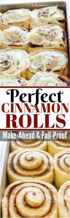 Taste better than Cinnabon! A fail-proof recipe that you can make-ahead! #cinnamon #rolls #christmas #thanksgiving #cinnabon