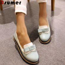 Oversize 34-43 nieuwe platform platte schoenen vrouw lente zomer zoete casual vrouwen flats bowtie dames partij trouwschoenen(China (Mainland))