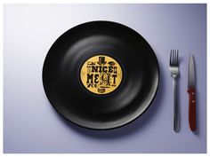 Long Plate - Vinyls? Yes, but in the guise of porcelain plates of six different hungry music bands.