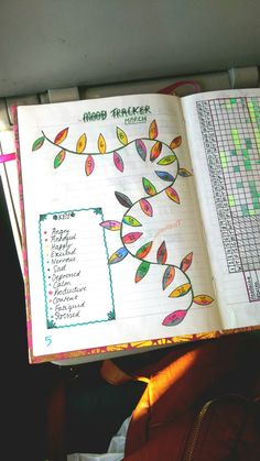 """My completed mood tracker for March! I love that the leaves give me the freedom to note down a few """"moods"""" of the day, as I am very indecisive!"""