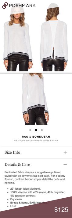 Rag and Bone Nikki split back sweater New without tags. Runs small in my opinion. Measurements to come. rag & bone Sweaters