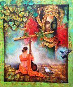 Krishna sang Meera