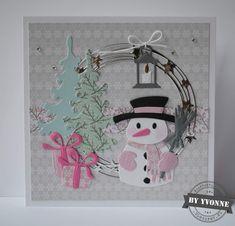 Kaarten & zo: 52 weeks to Christmas. Marianne Design Cards, 52 Weeks, Snowman, Christmas Cards, Clock, Crafts, Handmade, Die Cutting, Scrapbooking