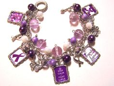 LUPUS AWARENESS  Altered Art Charm Bracelet by MoonstruckBoutique, $30.00