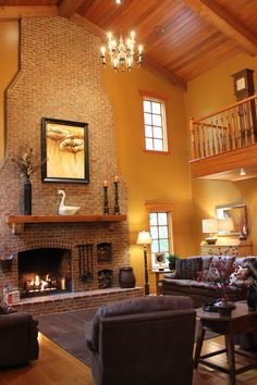 Look at this Living Room! I love this country home and brick fireplace. So cozy! For more photos of this home go here: https://www.caaronline-mis.com/spi/maildoc/5110_1474387122-Sep-20-2016-11_58_42am.html